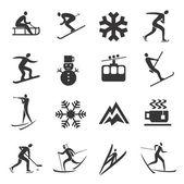 Set of Winter Sport icons — Stockvektor