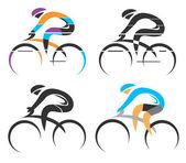 Cycling symbols — Stock Vector
