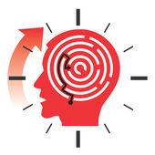 Deadline stress concept — Cтоковый вектор