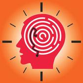 Deadline stressed man — Cтоковый вектор