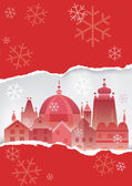 Christmas Historical town background. — Stock Vector