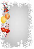 Carnival winter decorative frame — Vetor de Stock