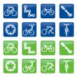 Bicycle buttons icons — Stock Vector #63290809