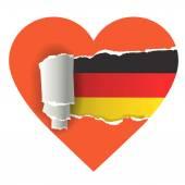 Miluji Německo — Stock vektor