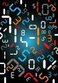 Digital numbers background. — Stock Vector