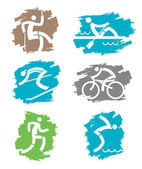 Outdoor sports grunge icons — Stock Vector