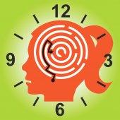 Deadline stress concept. — Stock Vector