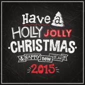 Christmas wenskaart. merry christmas belettering — Stockvector