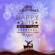 Vector Merry Christmas and Happy New Year card — Stock Vector #60440825