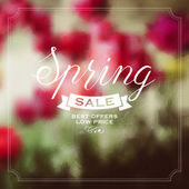 Spring sale illustration — Stock Vector