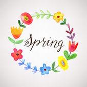 Spring illustration — Stock Vector
