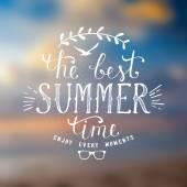 図は夏の時間 — ストックベクタ