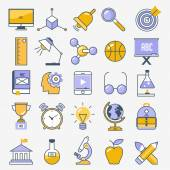 平面设计学校和教育组 — 图库矢量图片