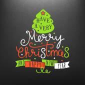 Molto buon Natale lettering illustrazione — Vettoriale Stock