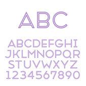 Handmade sans-serif font — Stock Vector