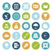 Flat design icons for business — Stock Vector