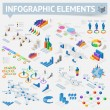 Set of isometric infographics design elements — Stock Vector #54781473