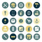 Flat design icons for industrial — Stock vektor