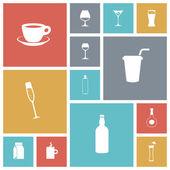 Flat design icons for drinks — Stock vektor