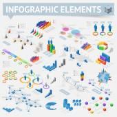 一連の等尺性のインフォ グラフィック デザイン要素 — ストックベクタ