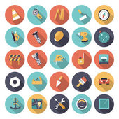 Flat design icons for industrial — Stock Vector