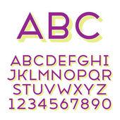 Handmade sans-serif font — Stockvector