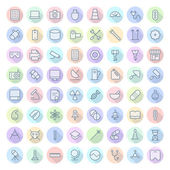 Thin Line Icons For Technology, Industry and Science — Stock Vector