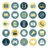 Flat design icons for media — Stock Vector