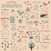 Set of vintage infographics design elements — Stock Vector