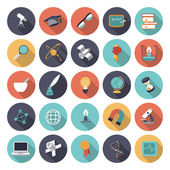 Flat design icons for science and education — Stock Vector