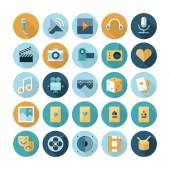 Flat design icons for leisure and entertainment — Stock Vector