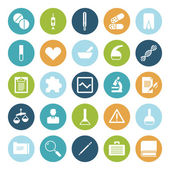 Flat design icons for medical science — Stock Vector