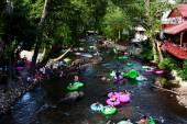 Lazy river tubing in Helen, GA — Stock Photo