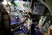 Soyuz space module Inside — Stock Photo