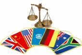 International Law and Justice — Stock Photo