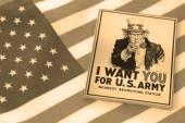 Uncle Sam symbol of US patriotism — Stock Photo