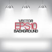 Three lamps illuminating on grey background — Stock Vector