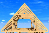 Frame house. — Stock Photo