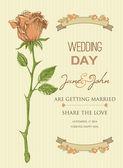 Wedding invitation template bridal shower — Stock Vector