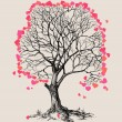 A tree of hearts love symbol  — Stock Vector #65813219