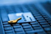 Secure credit card for online payment — Stockfoto