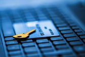 Secure credit card for online payment — Stock fotografie