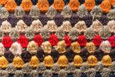 Knitwear ornament — Stock Photo
