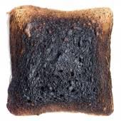Burned toast — Stock Photo