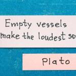 Постер, плакат: Empty vessels