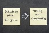 Teams win — Stock Photo