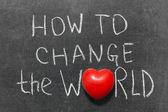 How to change world — Stock Photo