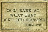 Dogs bark print — Stockfoto