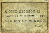 Decision Plato — Stock Photo