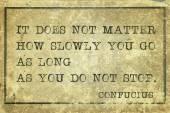 Not stop Confucius — Stockfoto